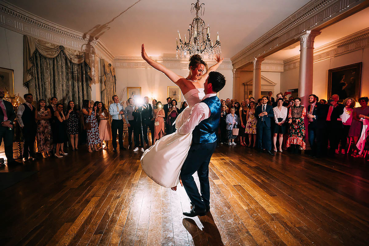 first dance inside North Cadbury Court