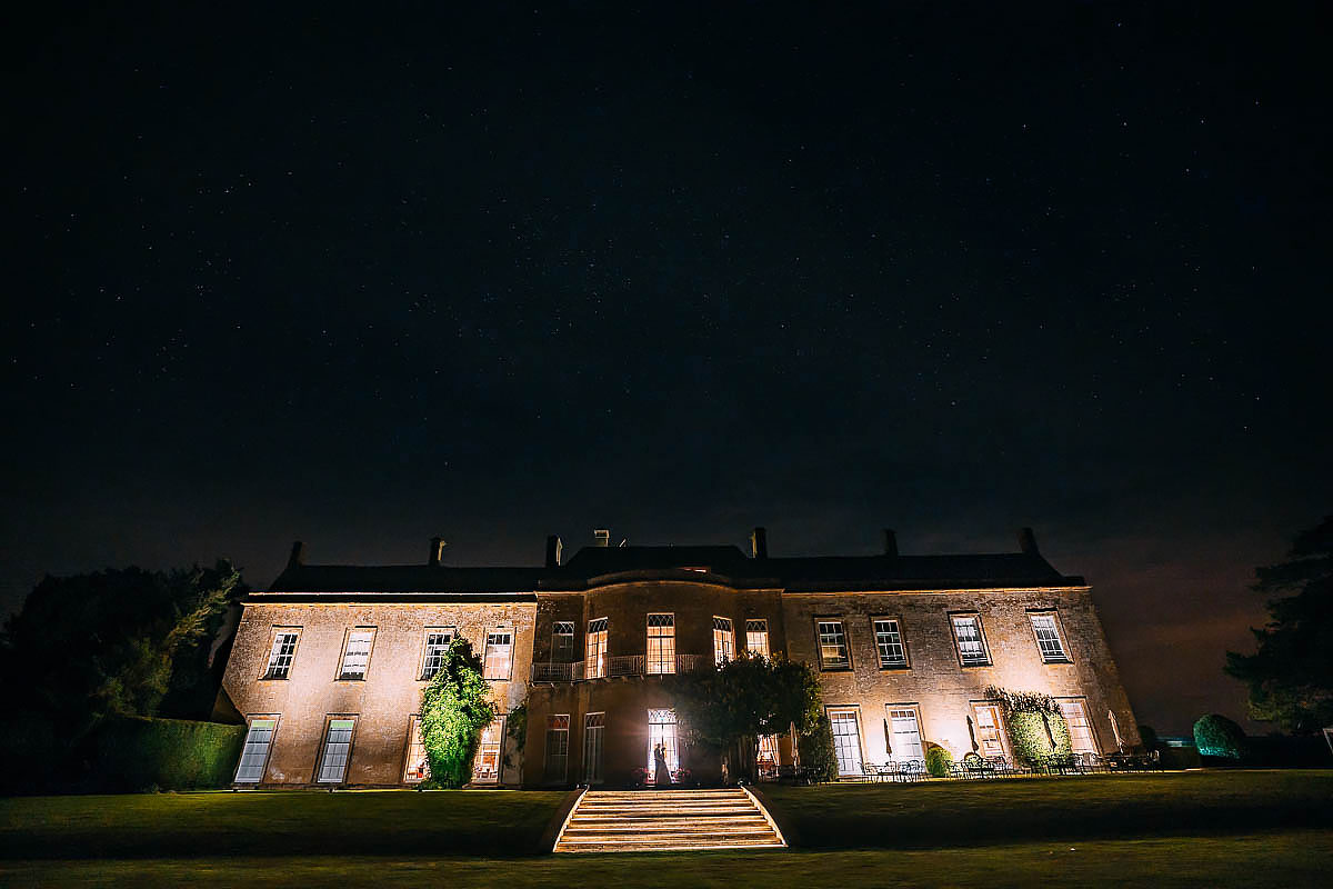 North Cadbury Court at night