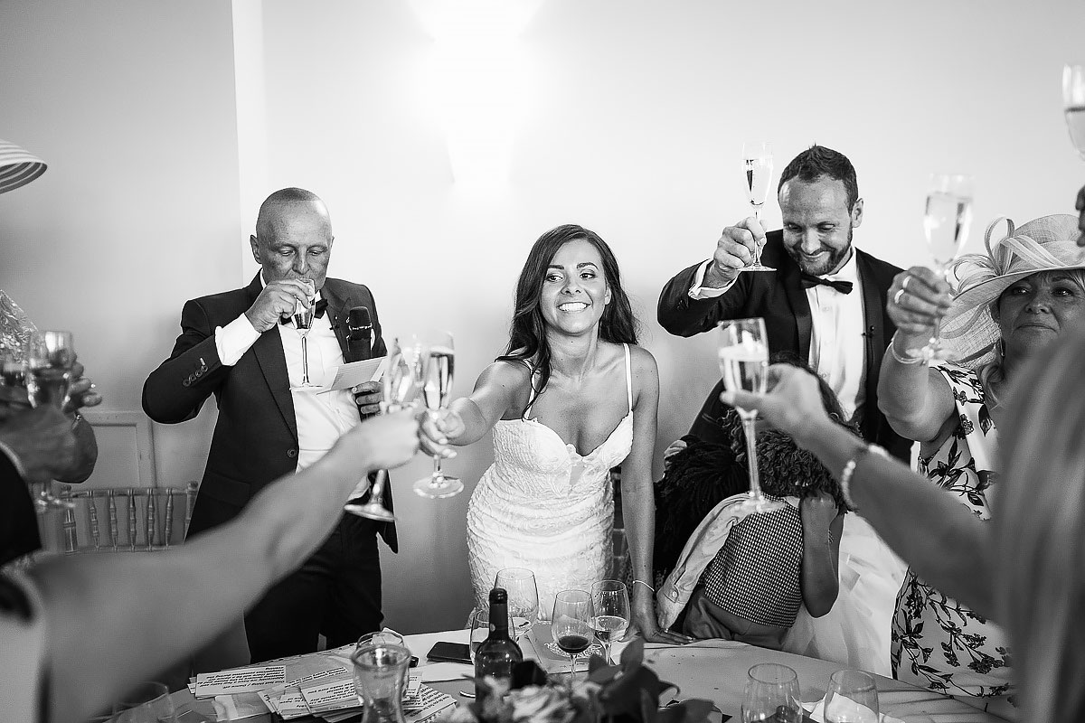 bride toasting speeches Coombe Lodge
