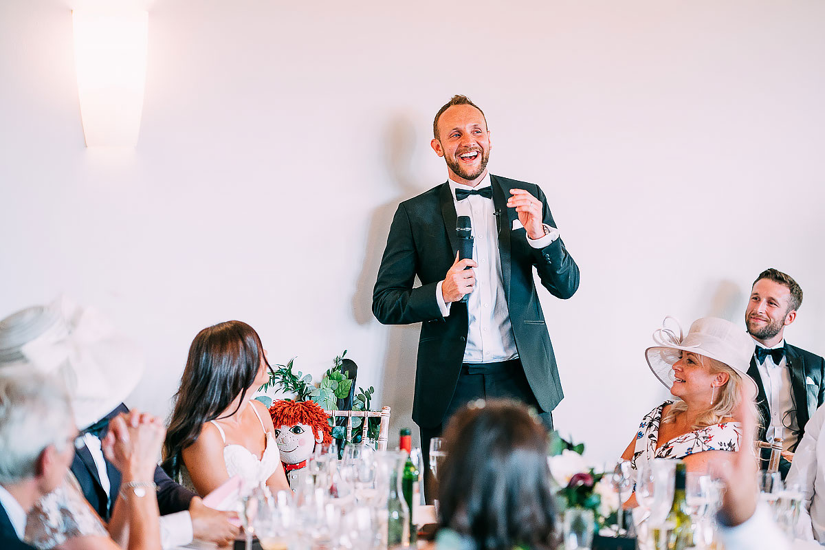 groom speech at Coombe Lodge