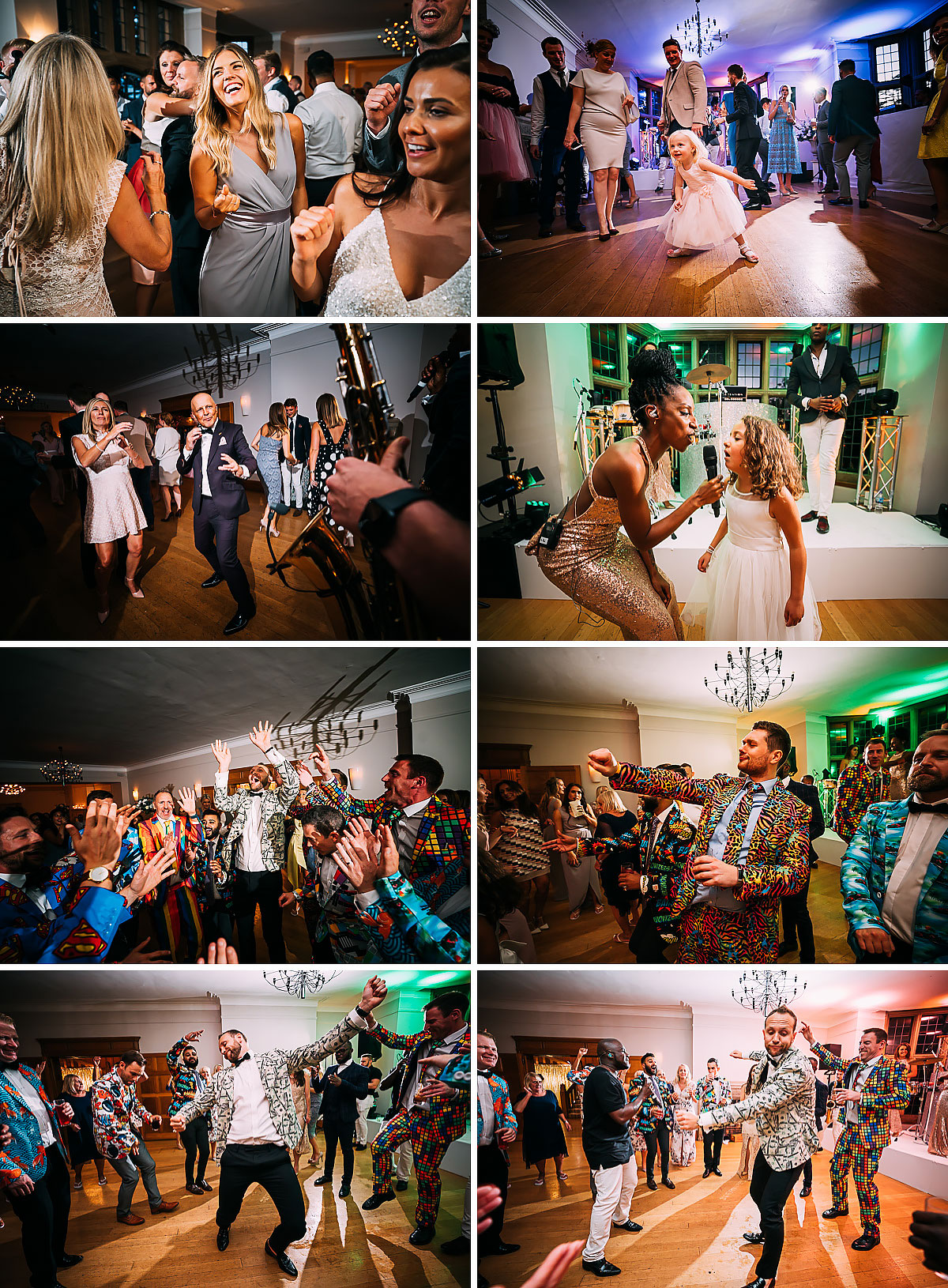 dance floor at Coombe lodge wedding