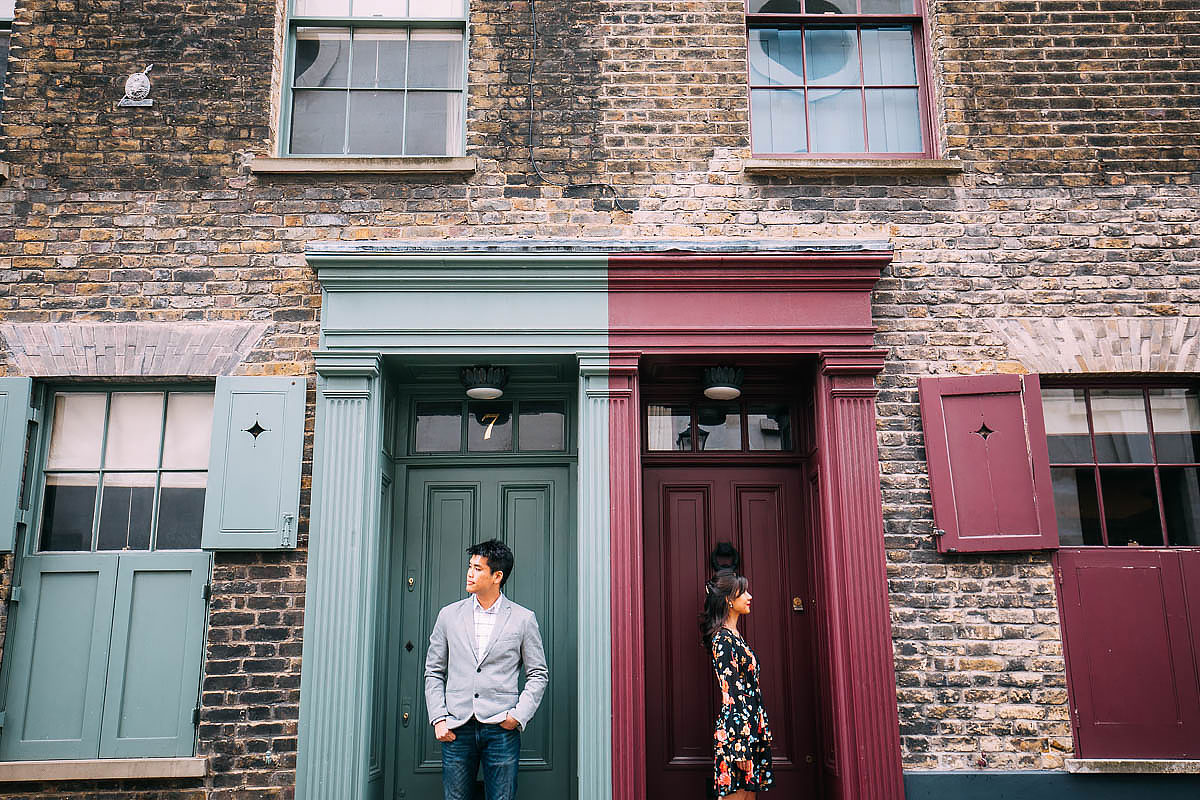 Shoreditch London pre wedding shoot