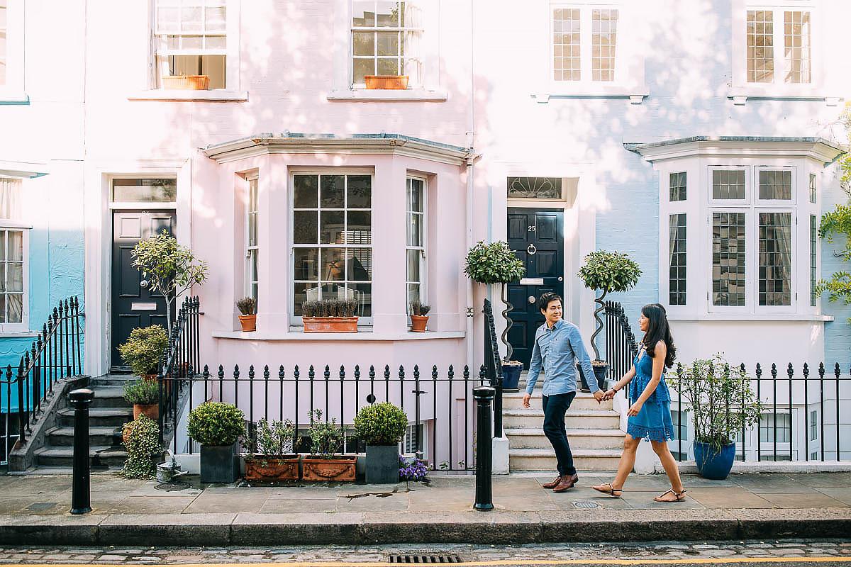 colourful houses photo shoot london