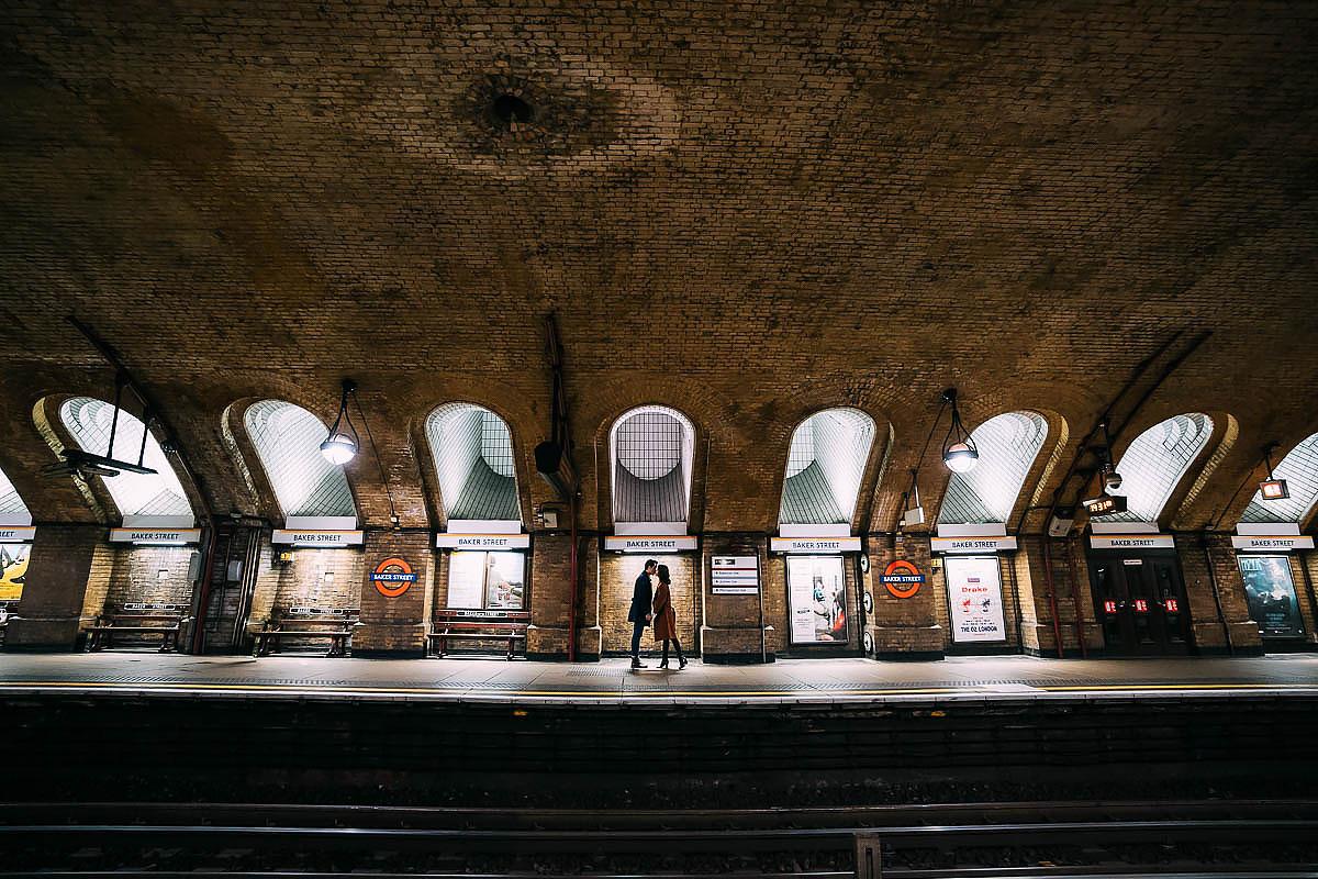London tube underground photo shoot