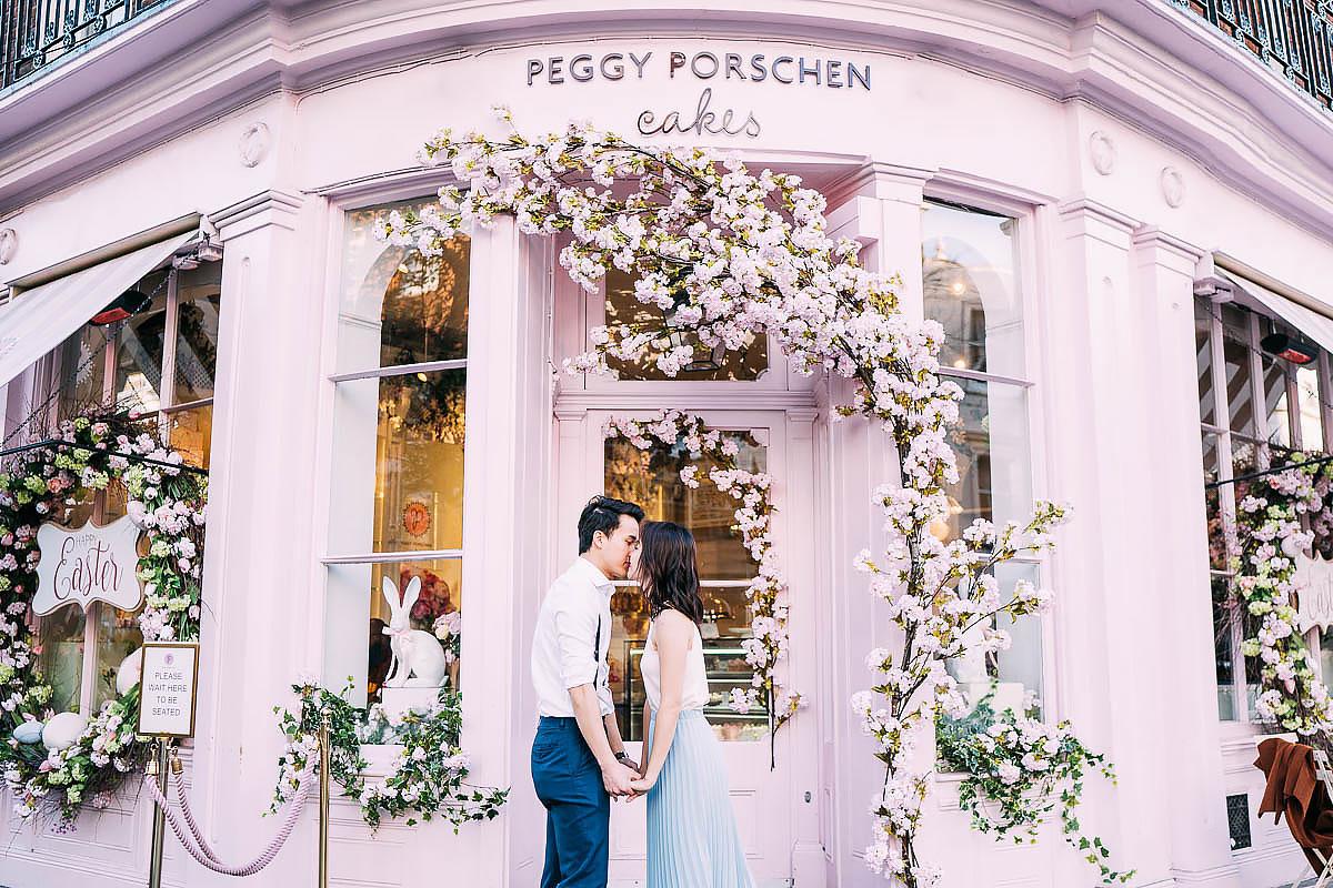 Peggy Porschen pre wedding shoot london