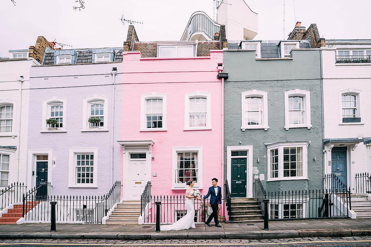colourful houses London shoot