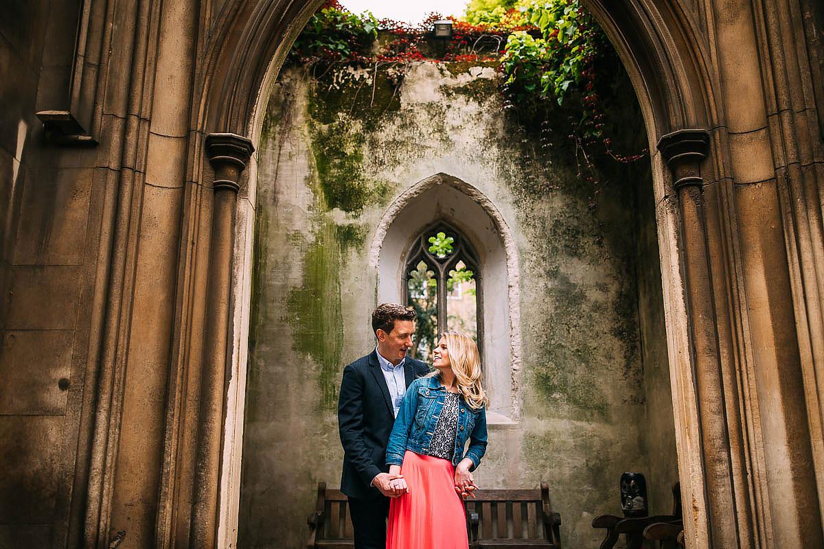 church pre wedding shoot london