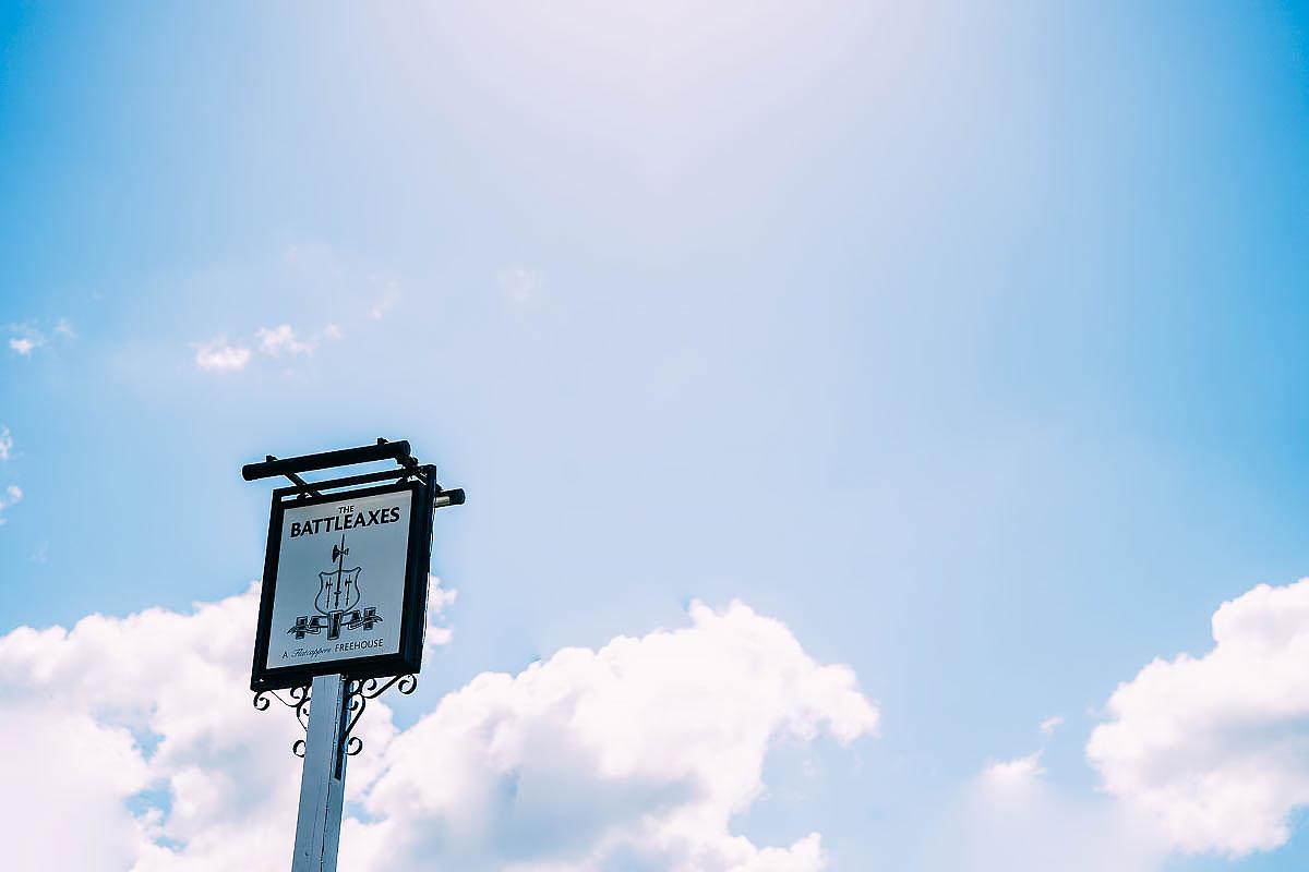 battleaxes pub sign