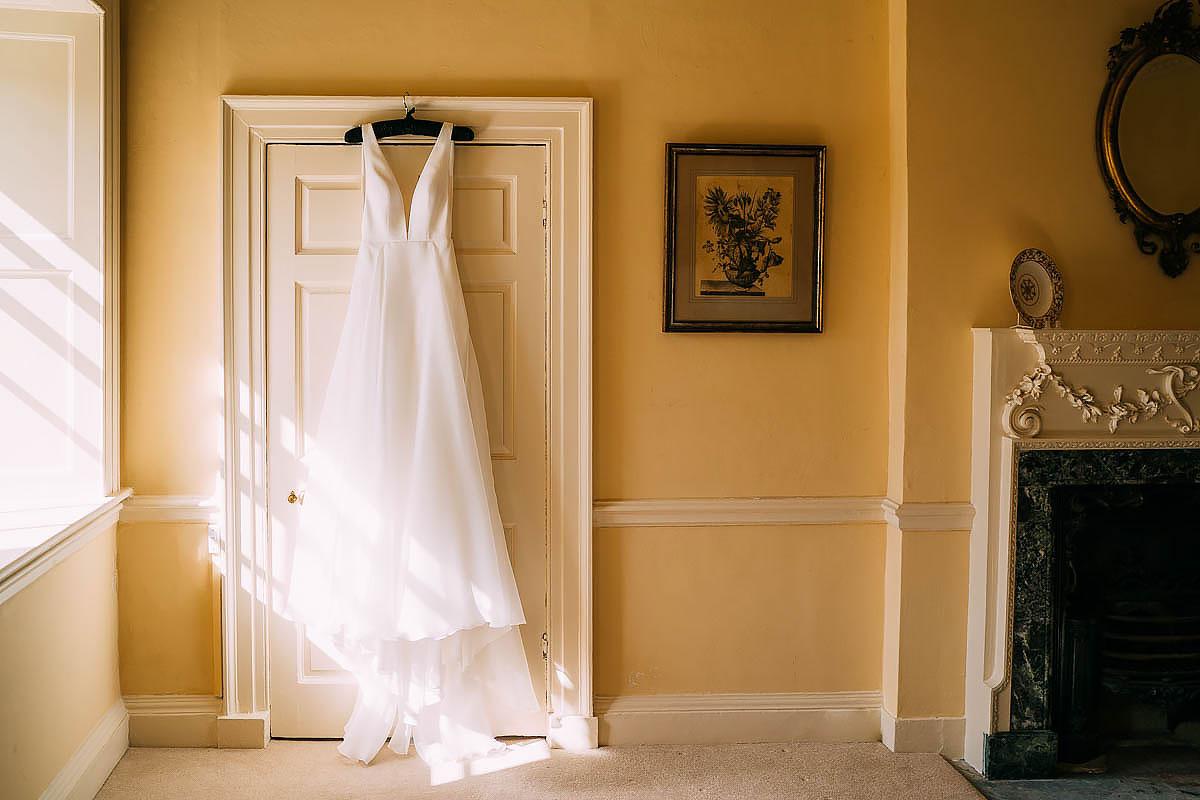 wedding dress inside came house