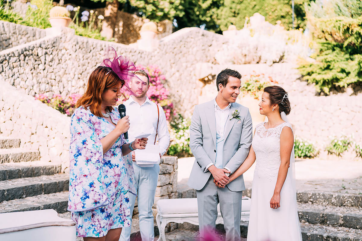 wedding ceremony at Finca Son Berga