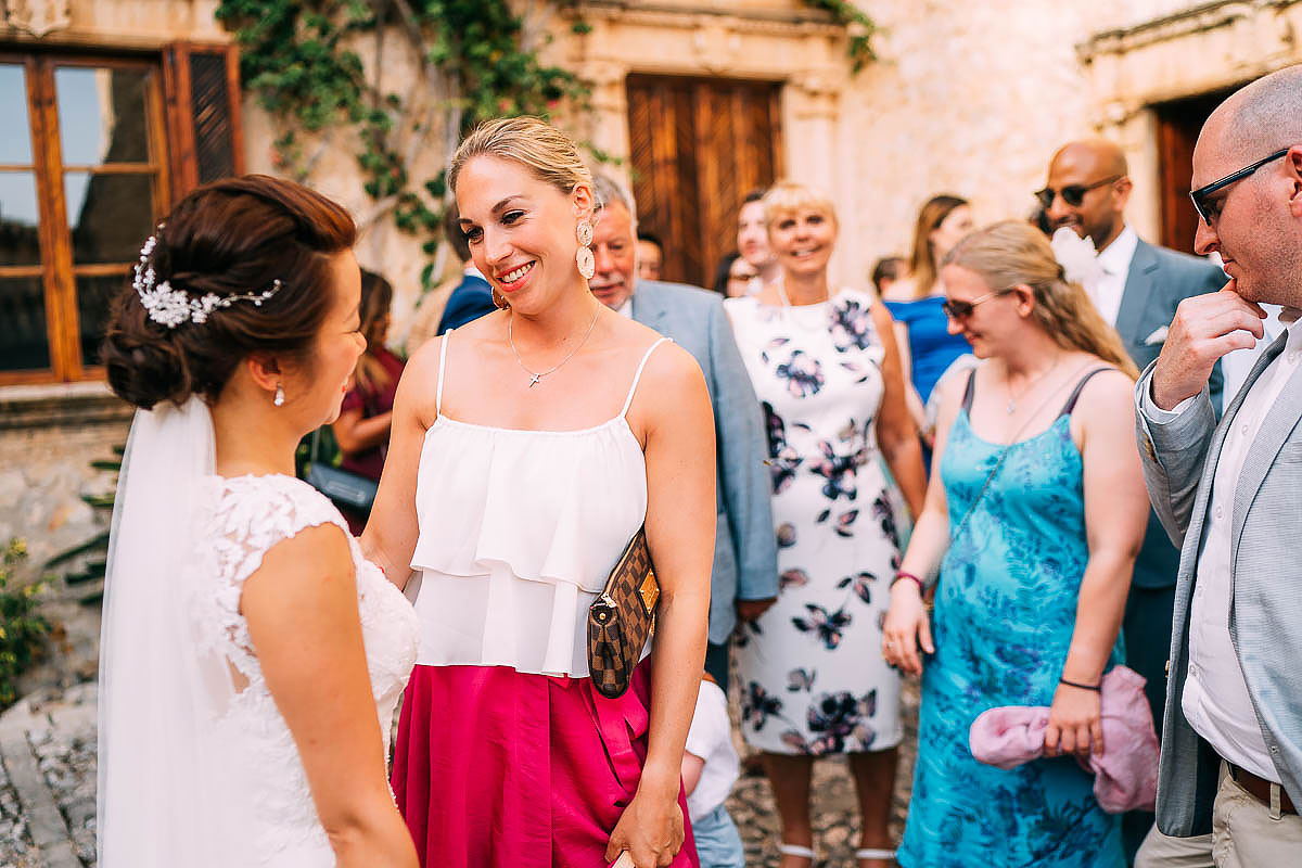 guests celebrating at Finca Son Berga wedding