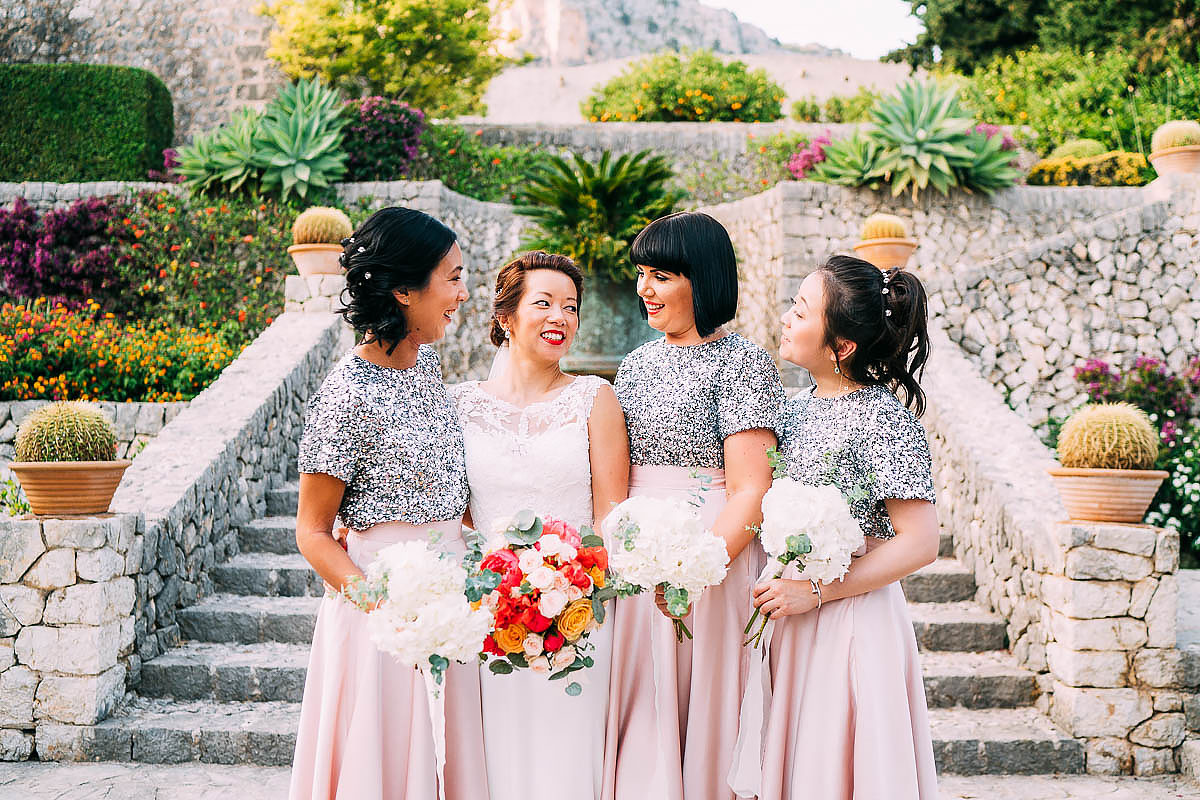 bridesmaids at Finca Son Berga
