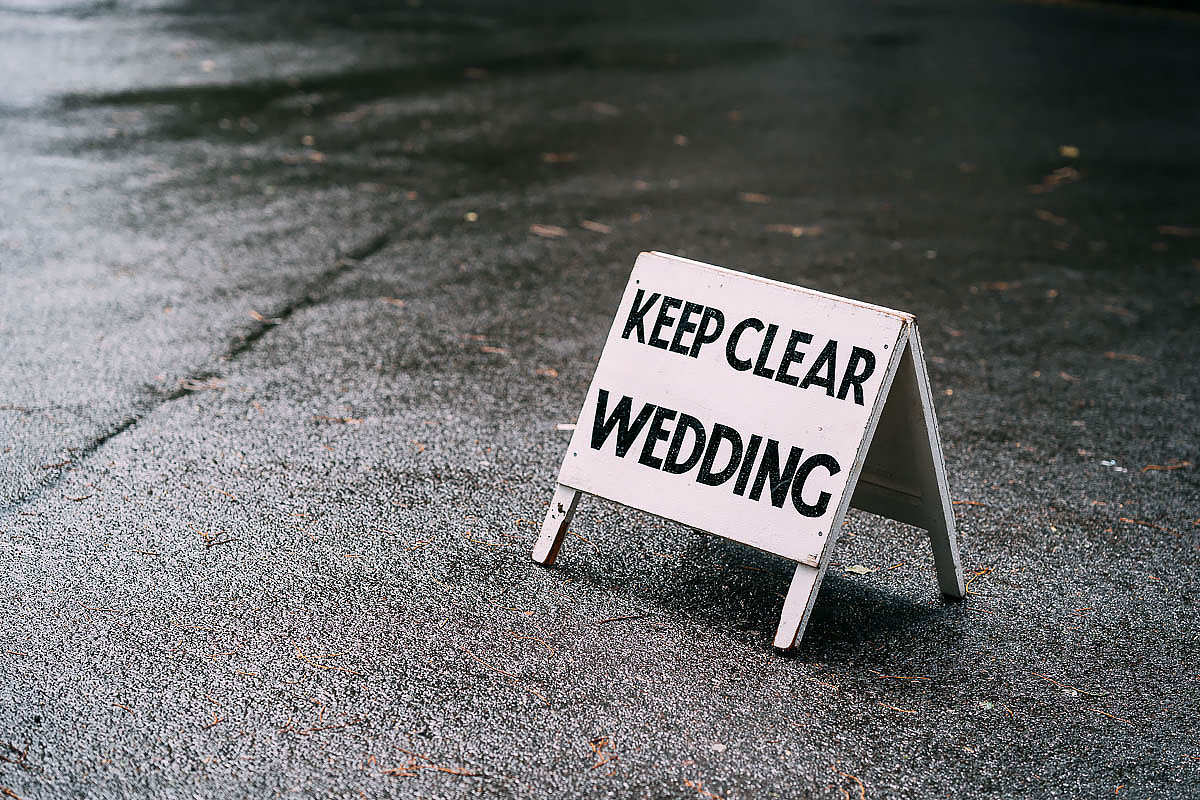 funny wedding sign