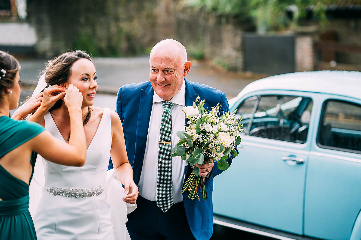 Bride arriving at St Luke's Church bristol