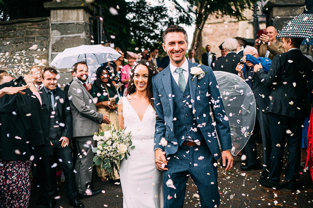 confetti at bristol wedding