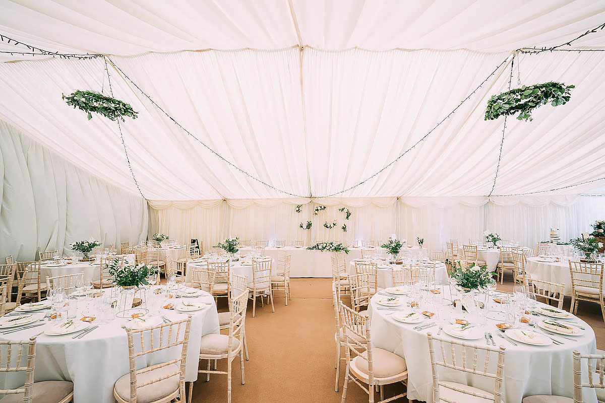 Hamswell House wedding decorations