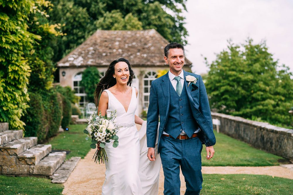 Wedding Guests Arrive At Hamswell House