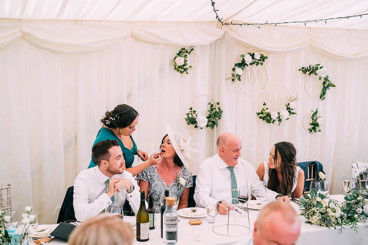 wedding speeches at Hamswell House