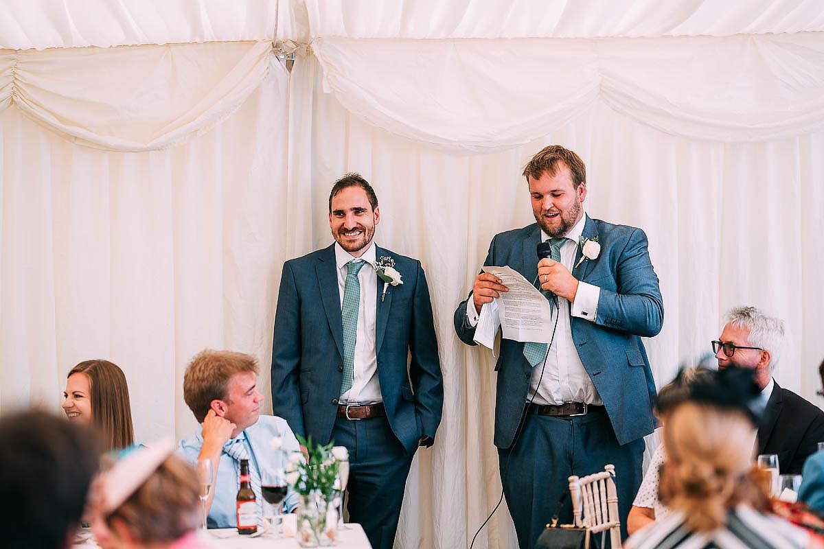 wedding speeches at Hamswell House wedding