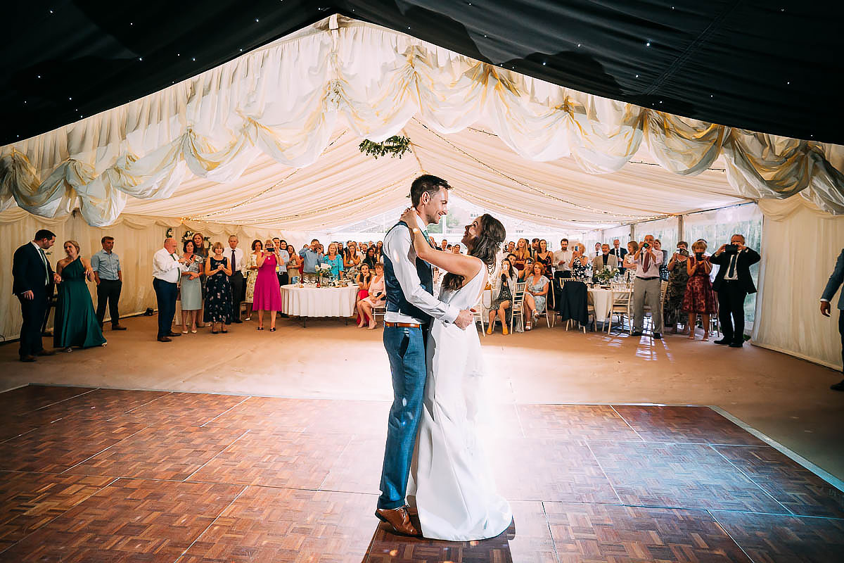 first dance at Hamswell House wedding