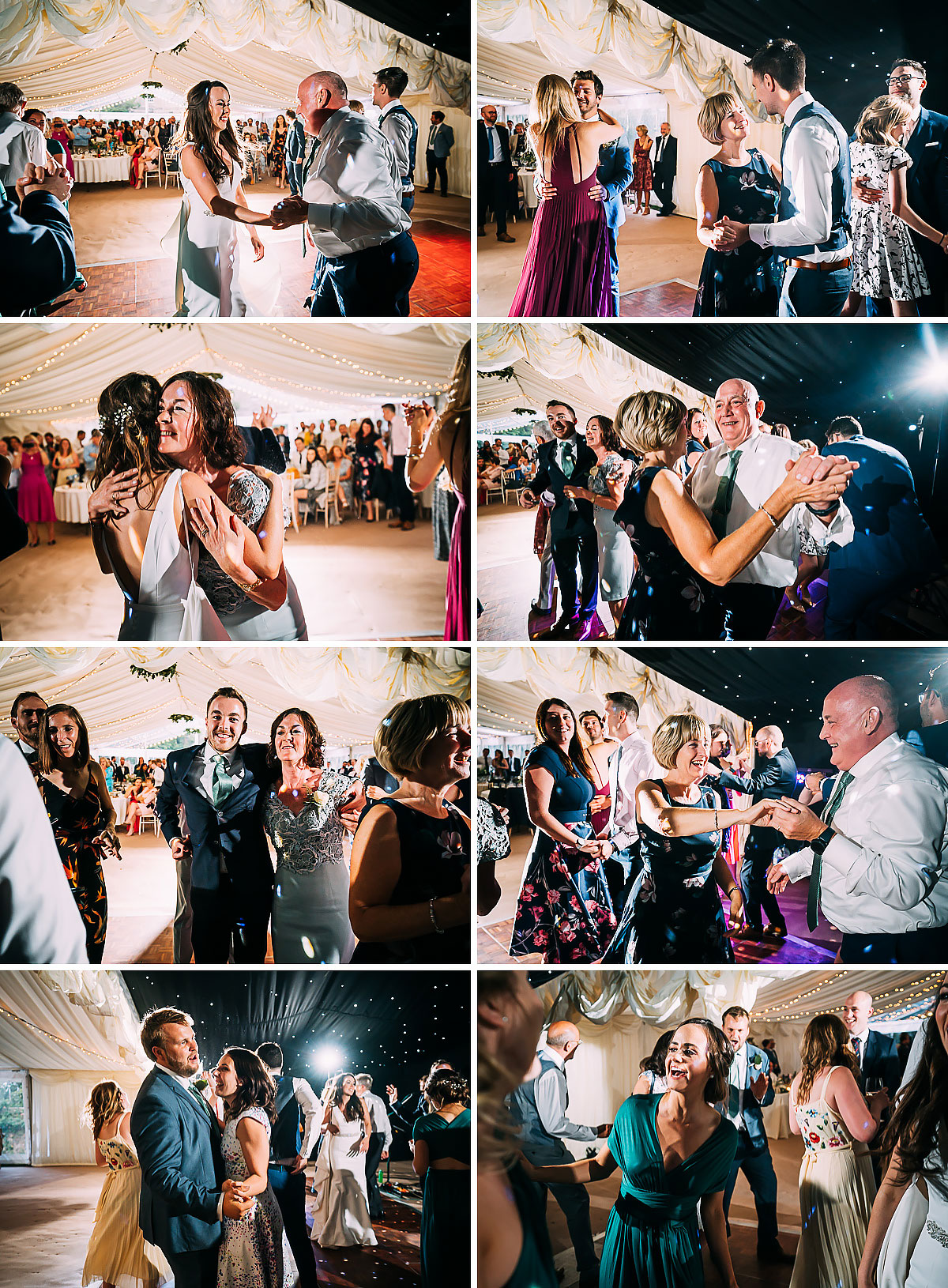 party wedding dancing at Hamswell House
