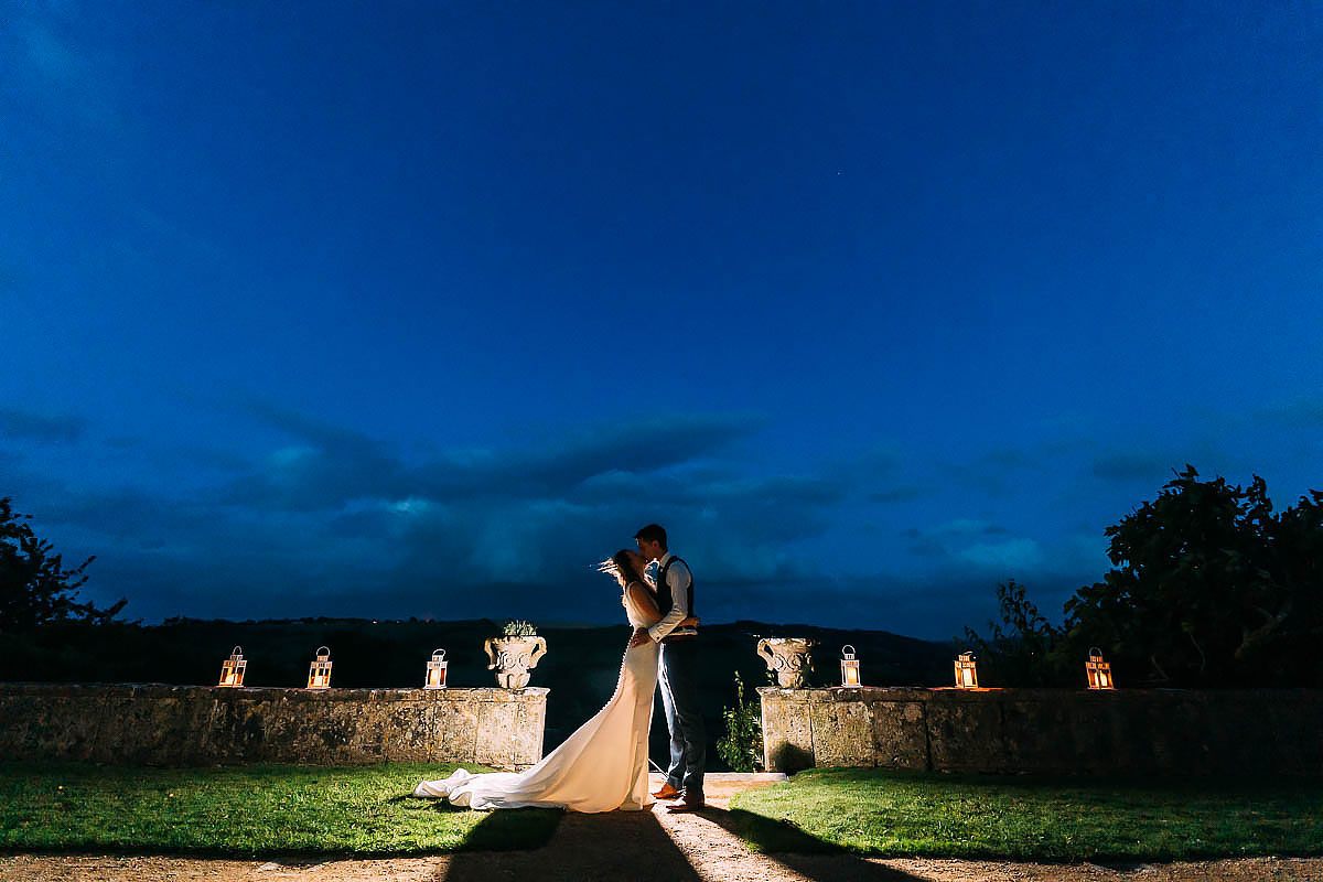 Hamswell House wedding night photo