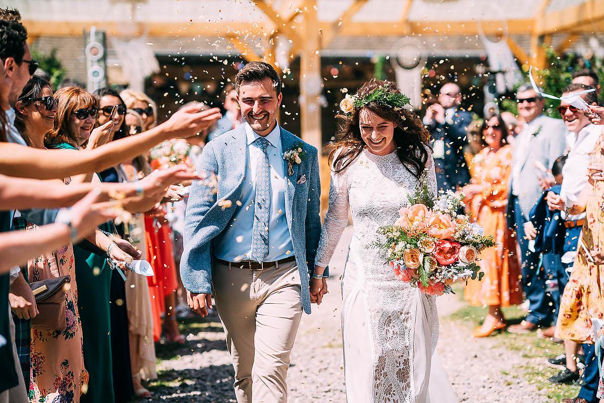 wedding confetti at Holford Arms