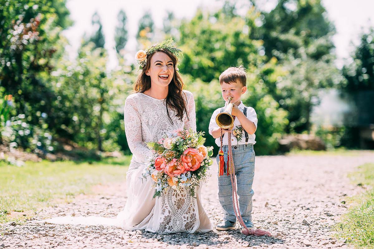 cute page boy at wedding