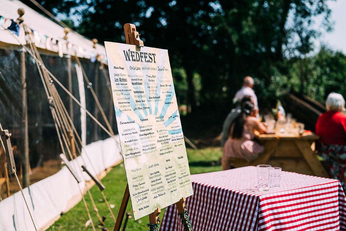 wedding festival sign