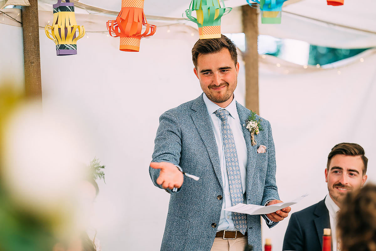 wedding speeches at Holford Arms