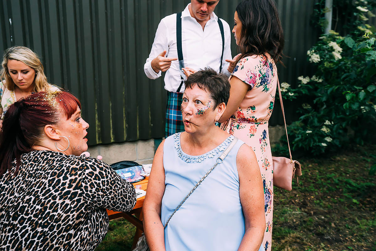 festival wedding face painting