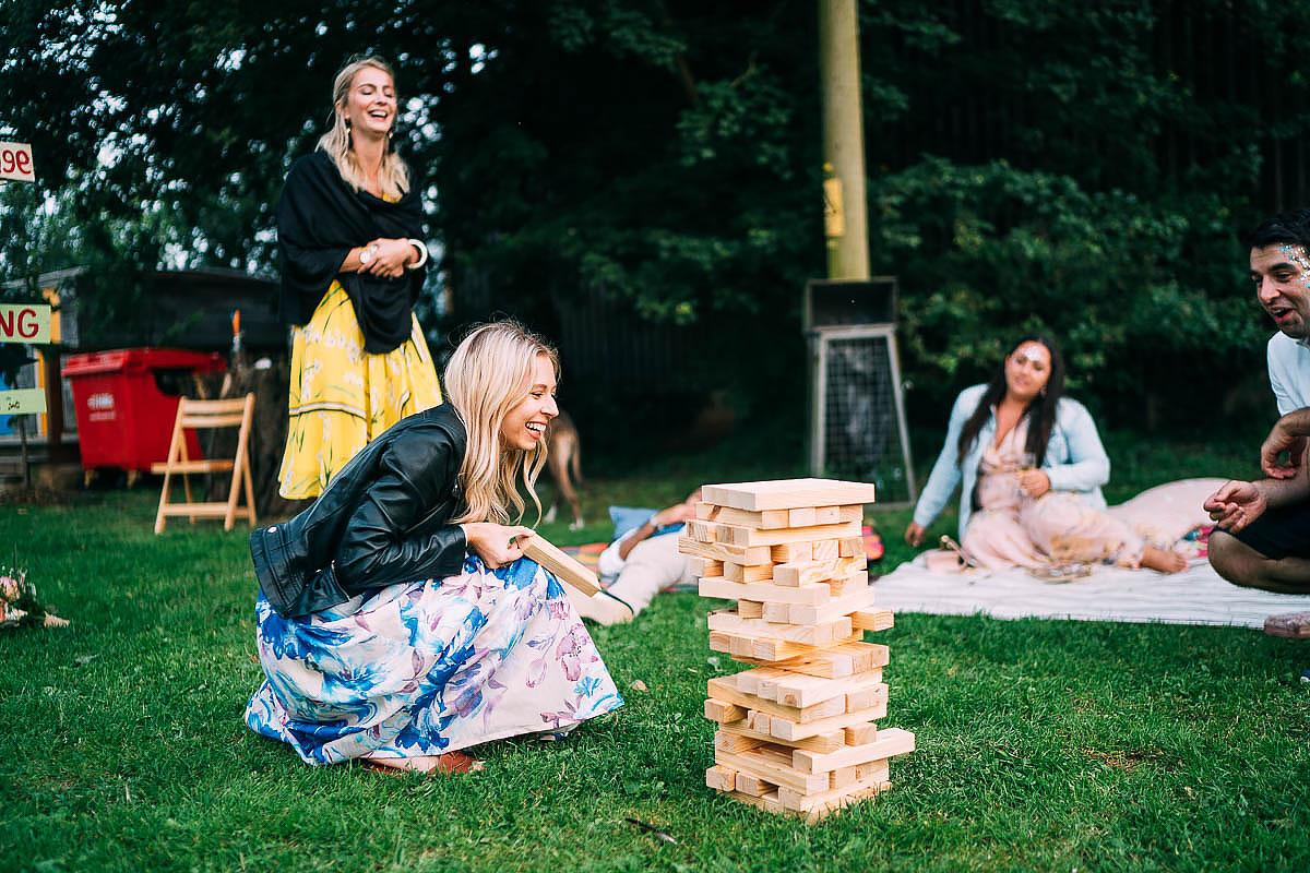 giant jenga wedding games
