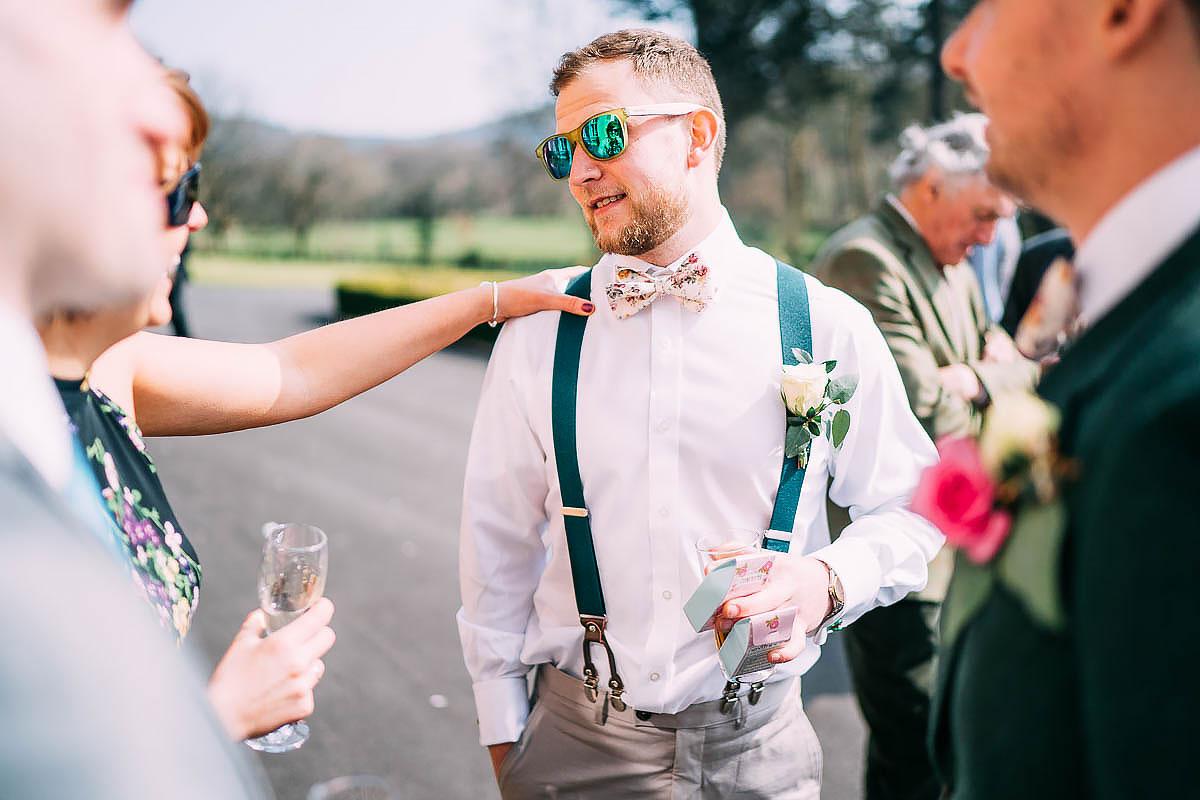 green wedding clothes