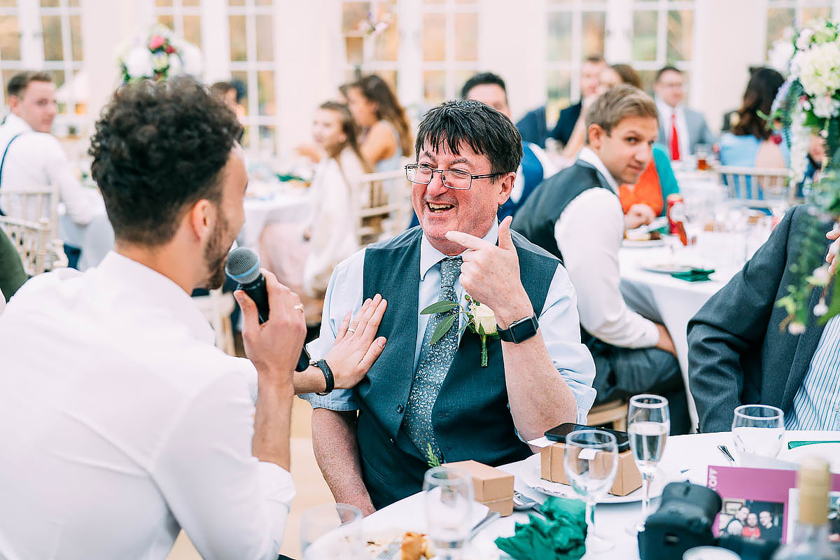 wedding speeches at Knowle Manor