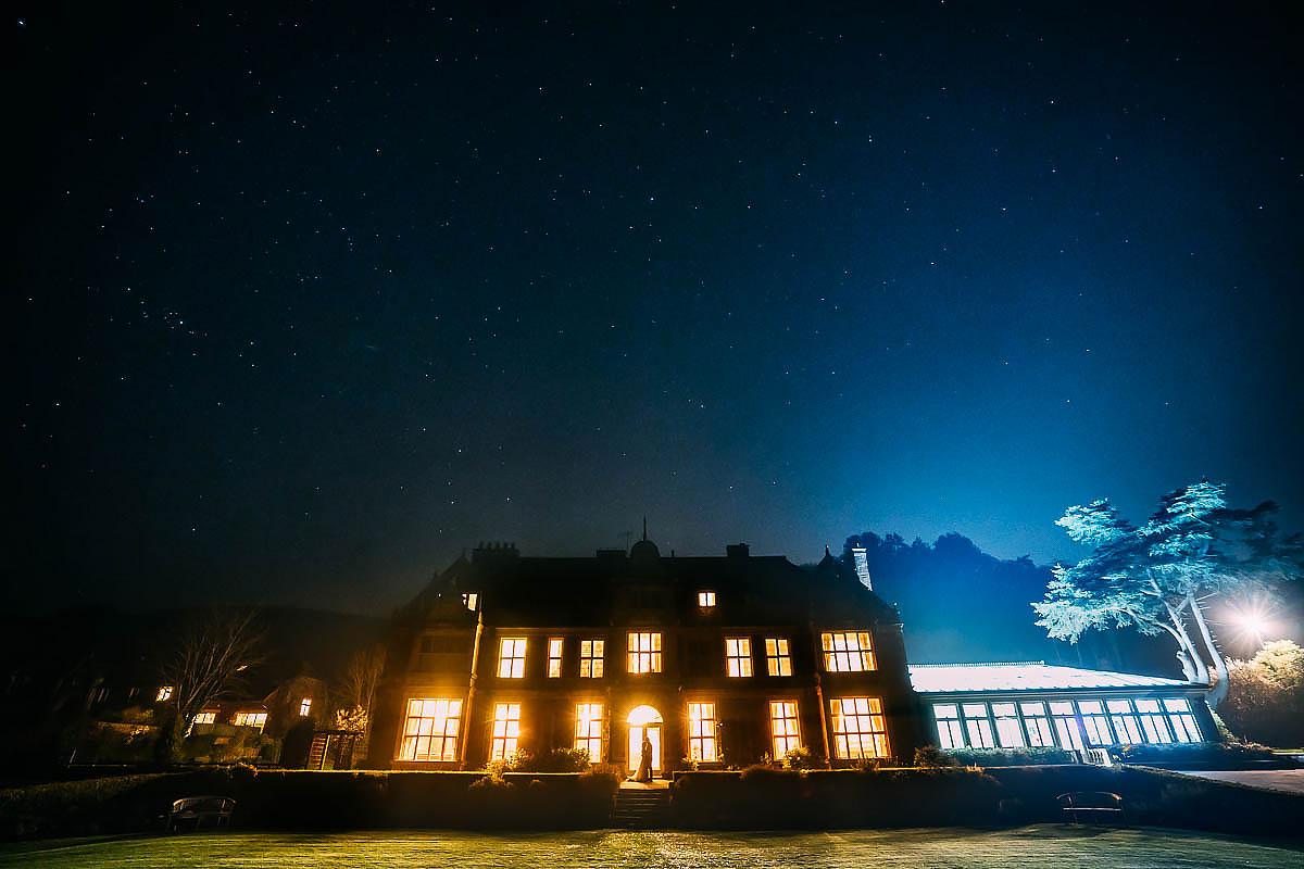 Knowle Manor wedding venue at night