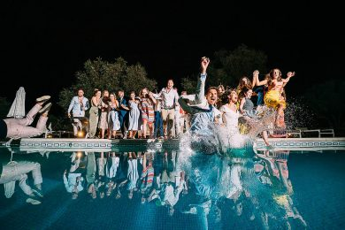 Crazy Wedding Photo In Swimming Pool