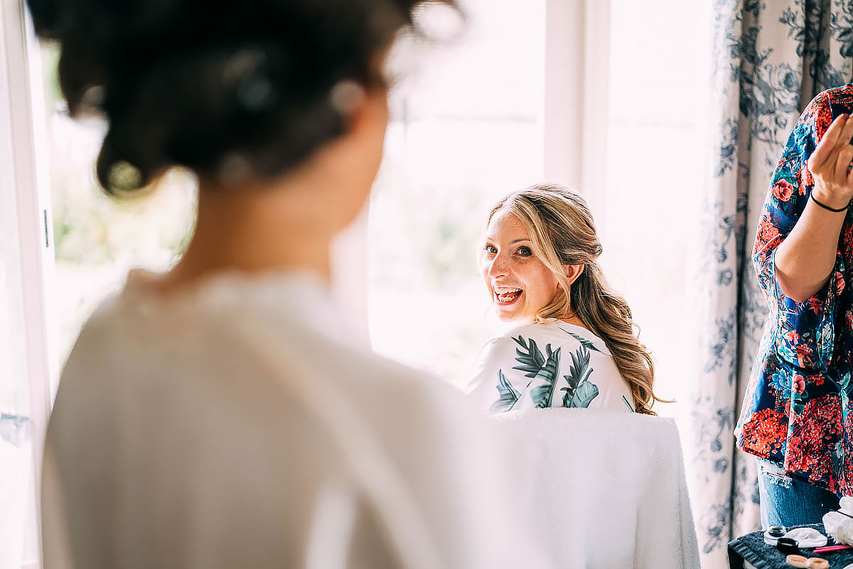 reaction to bride's makeup