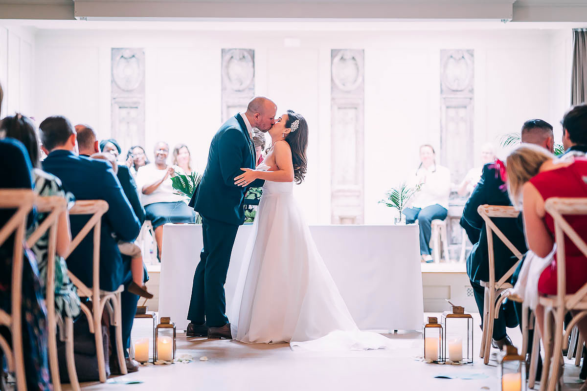 first kiss at wedding