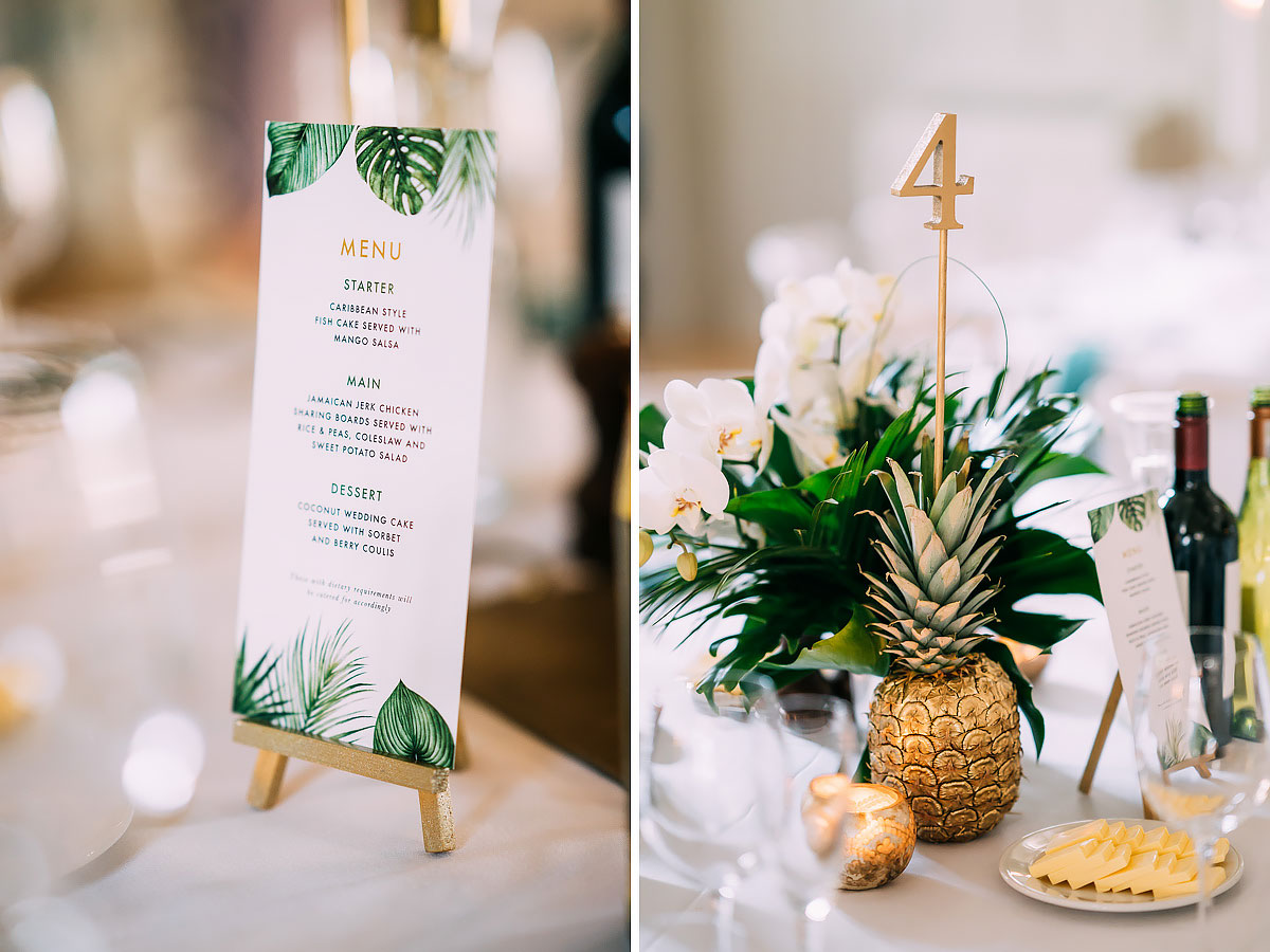 The Frogmill wedding decorations