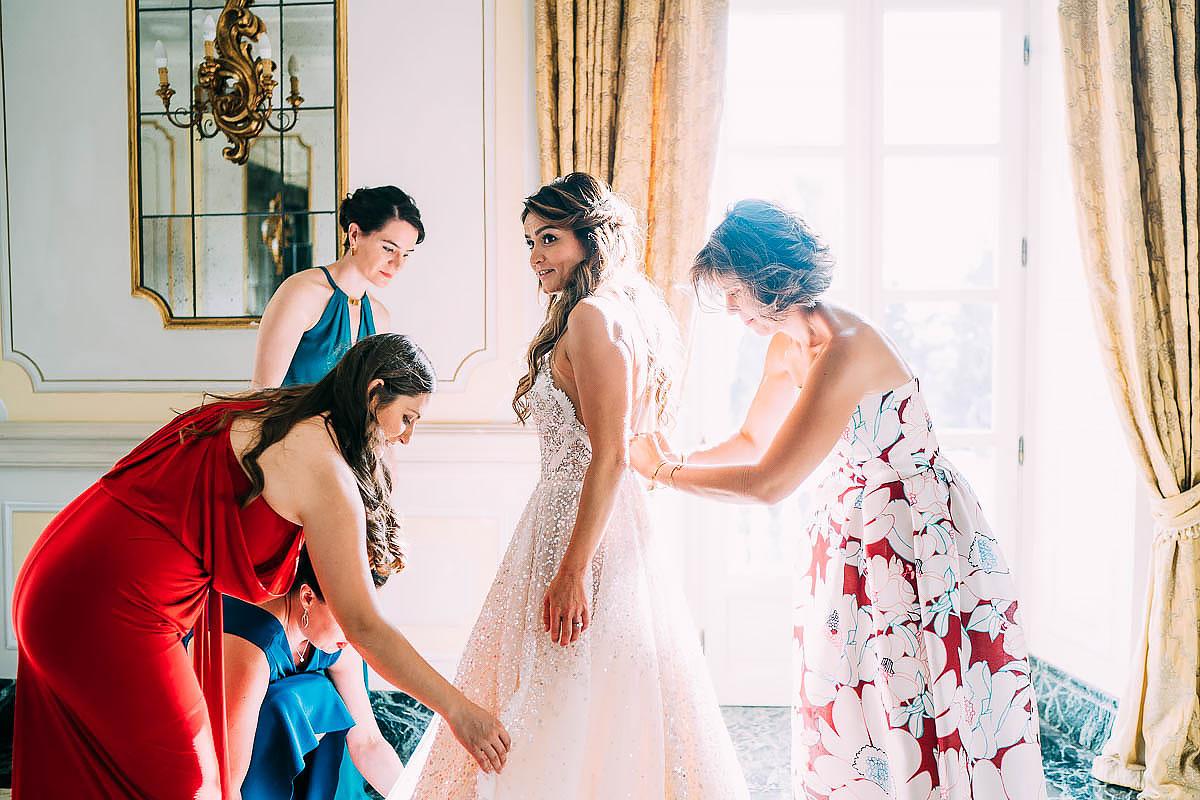 natural wedding photos at Villa Miani