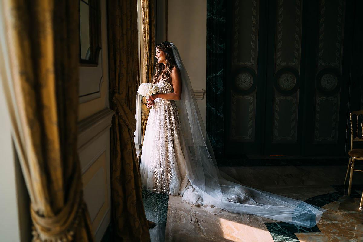 bride inside Villa Miani Wedding