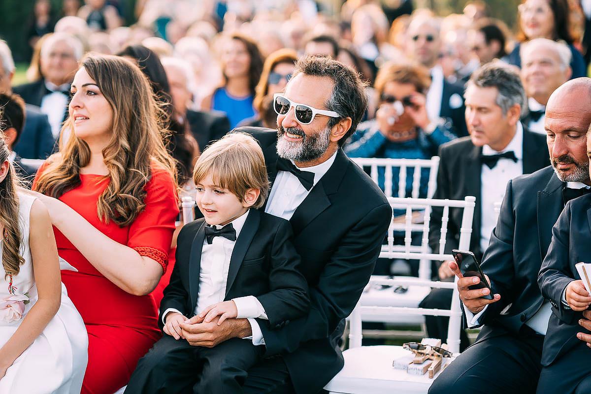 wedding guests black tie in rome