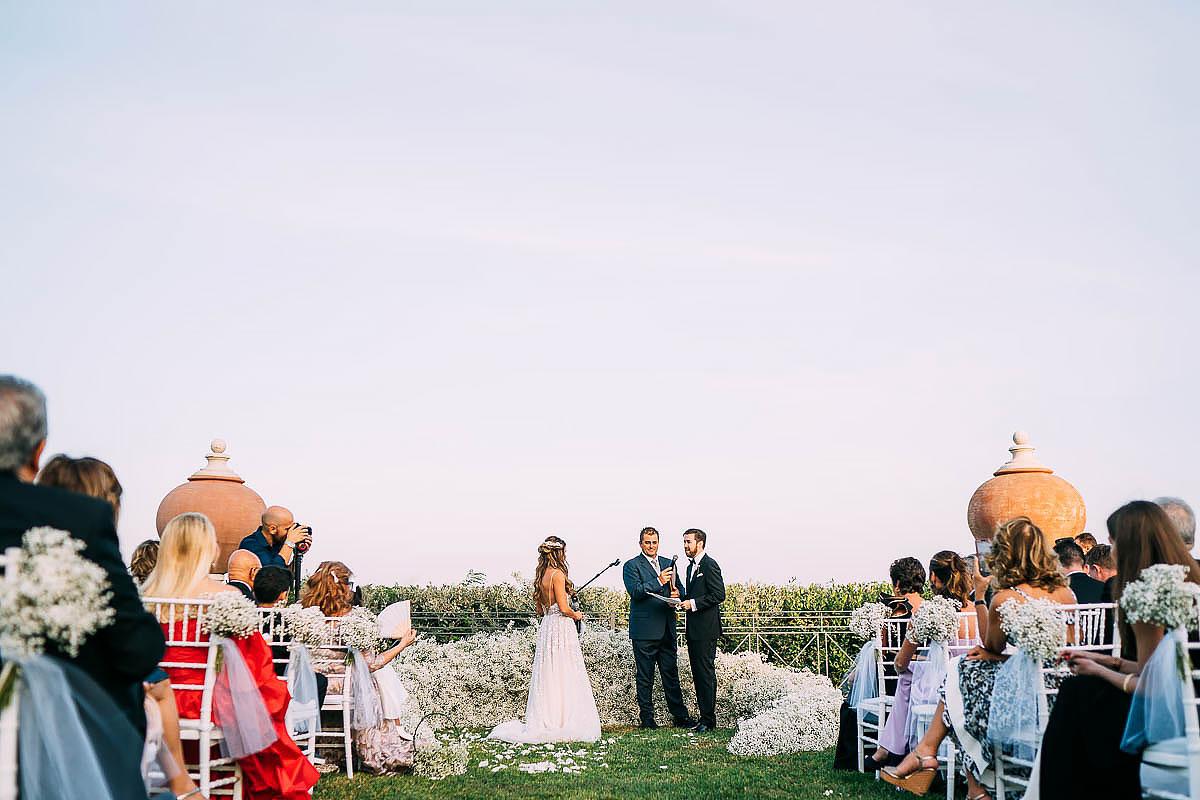 Villa Miani wedding outside