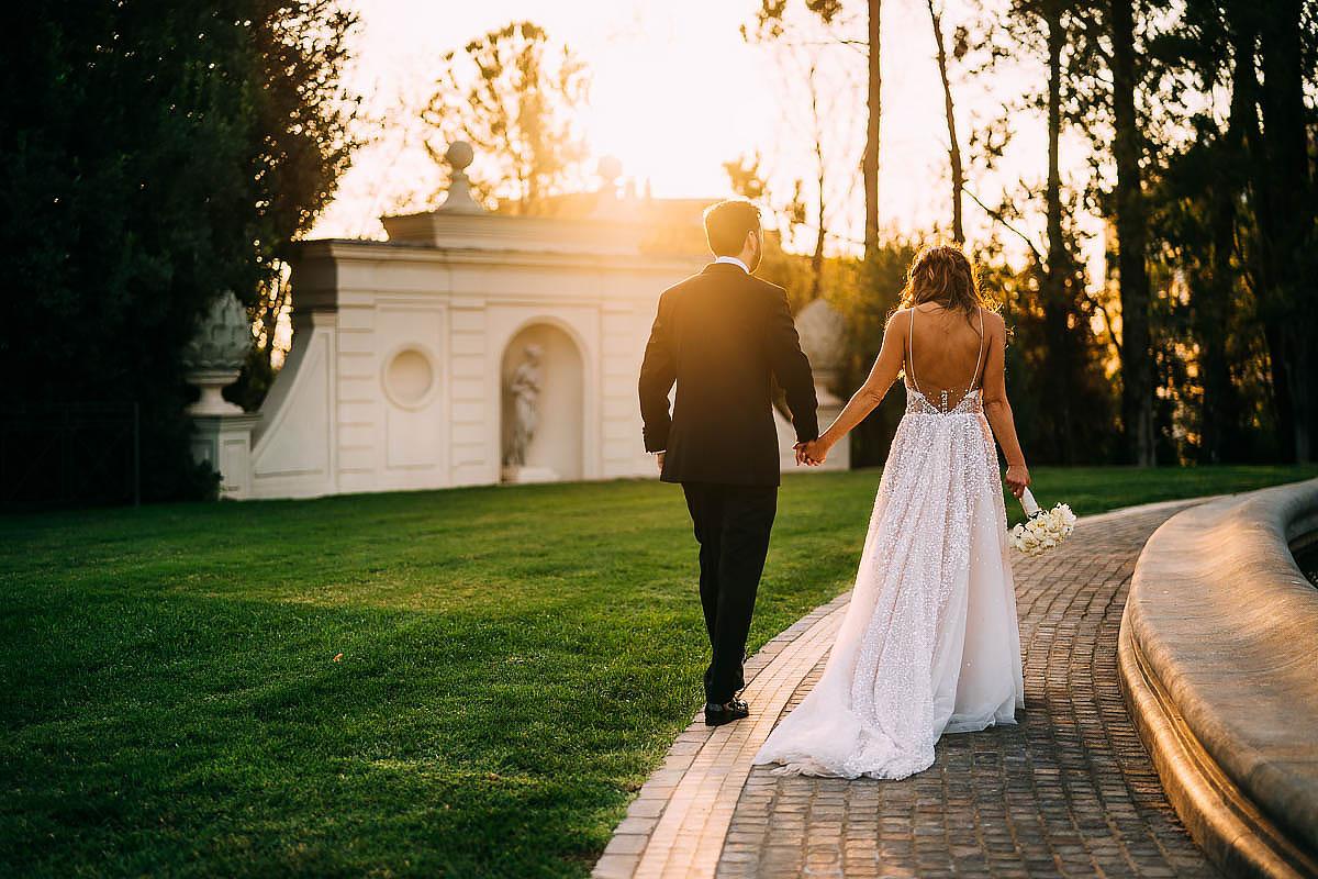 couple photos at Villa Miani