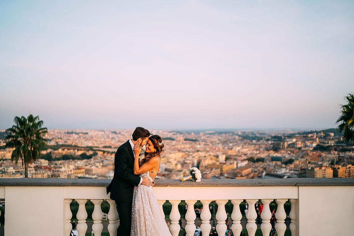 wedding photography at Villa Miani