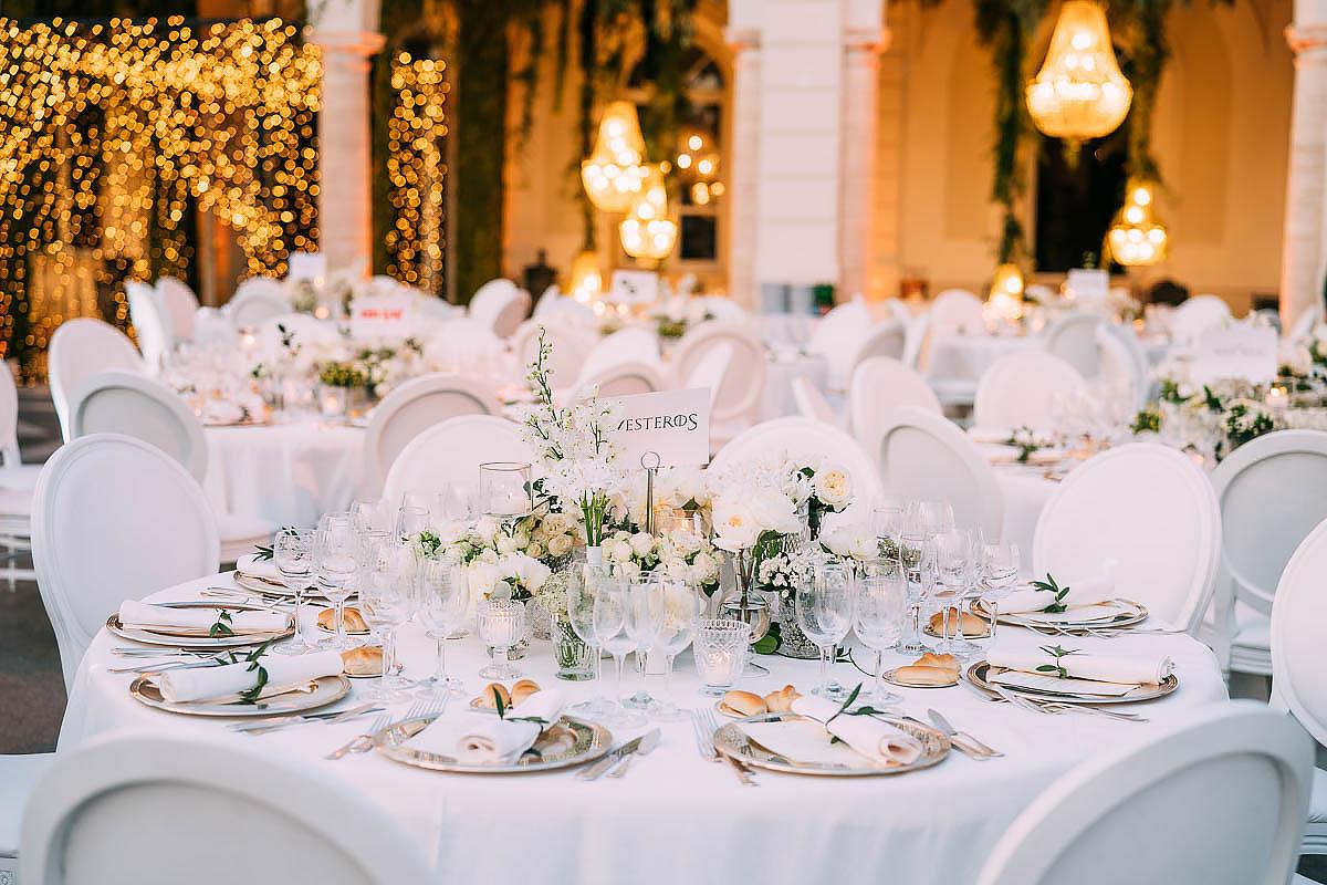 Villa Miani Wedding decorations