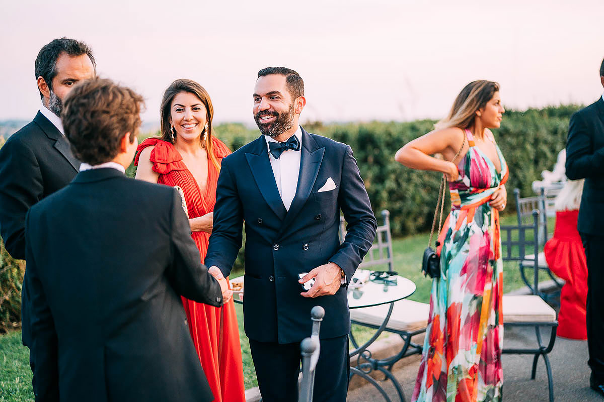wedding reception at Villa Miani Wedding