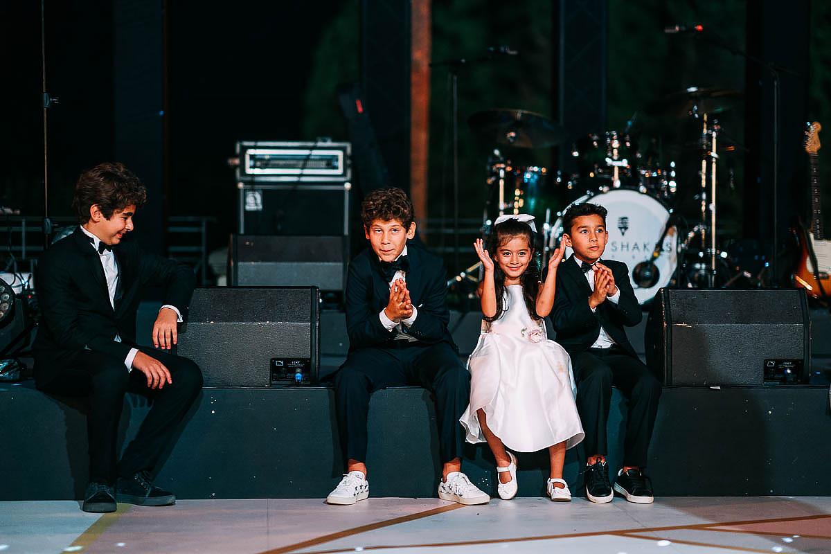 children watching the first dance