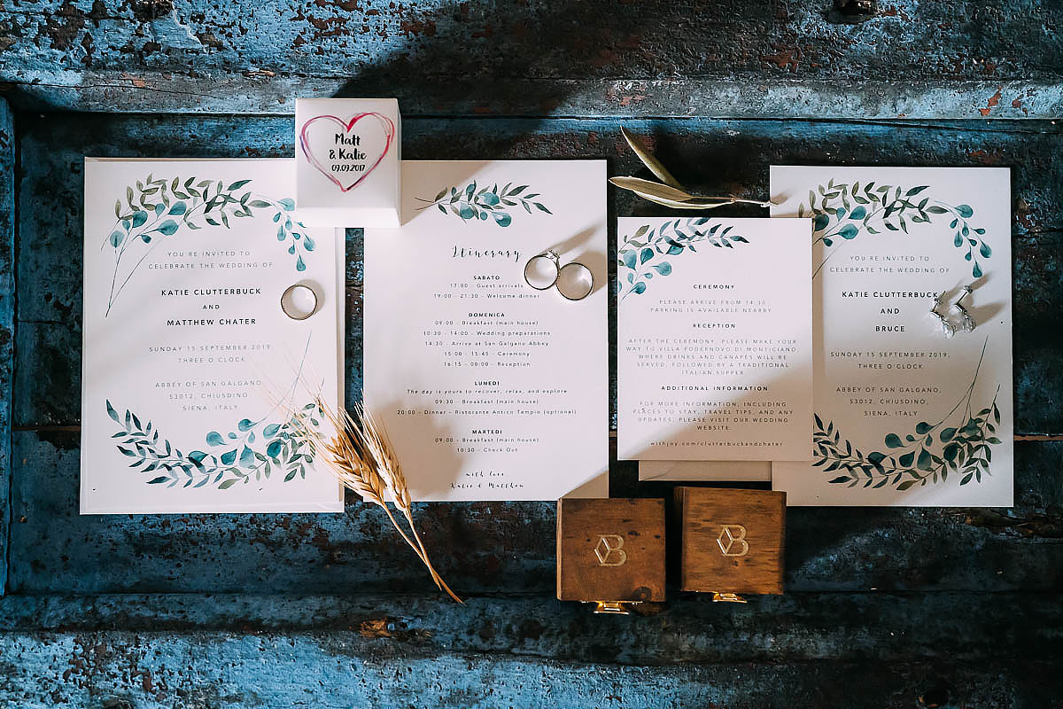 wedding invitations for Italy