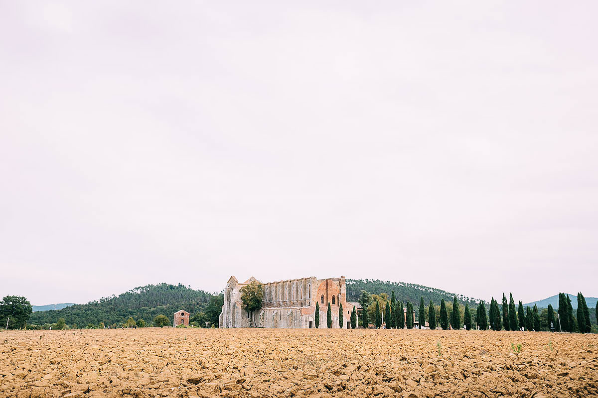 San Galgano abbey in September